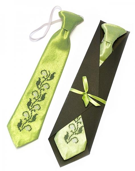 Детский галстук с вышивкой Вист