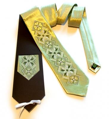 Галстук с вышивкой Злат