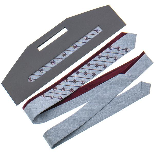 Оригинальный вышитый галстук №814
