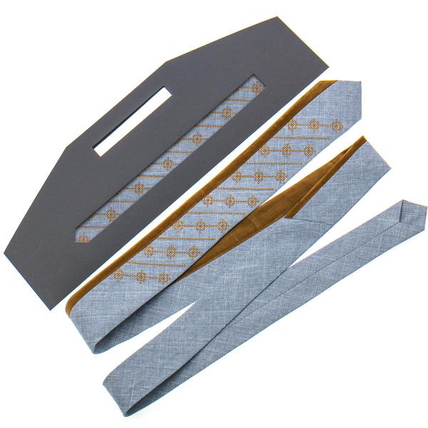 Оригинальный вышитый галстук №818