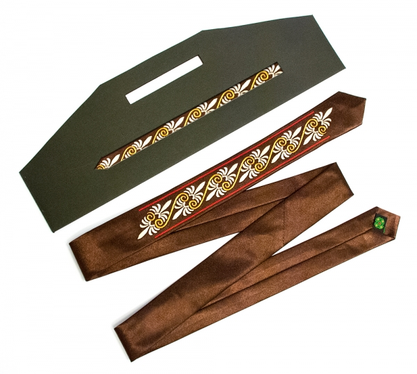 Узкий галстук с вышивкой Zeta