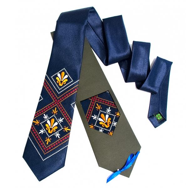 Галстук с вышивкой Гамма