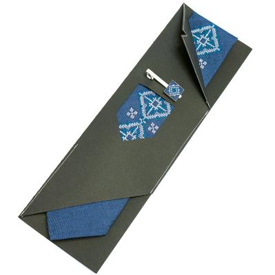 Вышитый галстук с зажимом Вербан