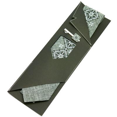 Вышитый галстук с зажимом Витан