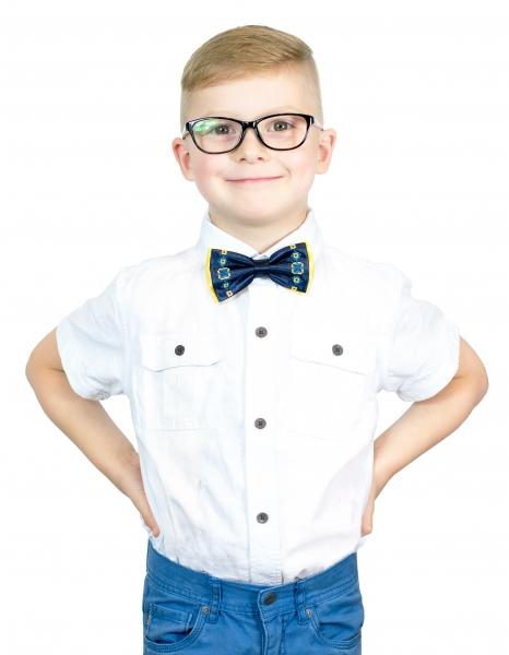 Детский вышитый галстук-бабочка Усан