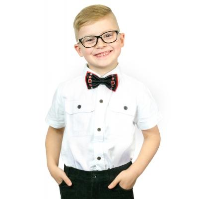 Детский вышитый галстук-бабочка Черноус