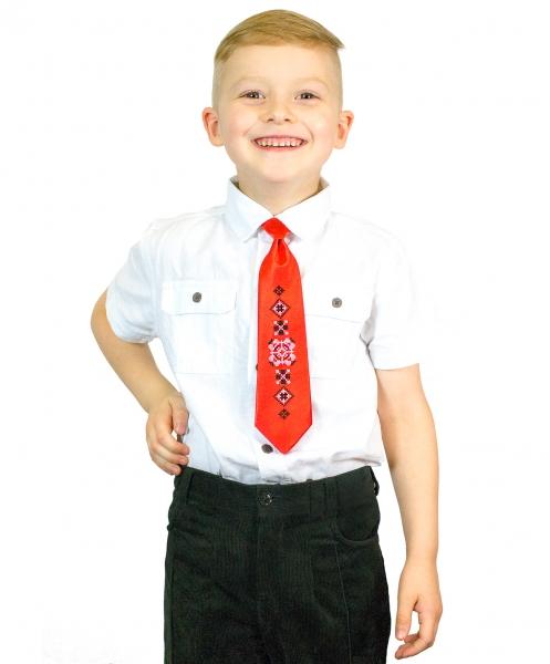 Детский галстук с вышивкой Радислав