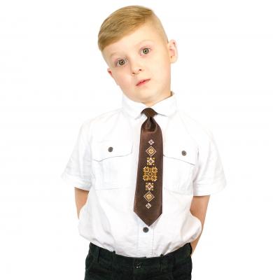 Детский галстук с вышивкой Глеб