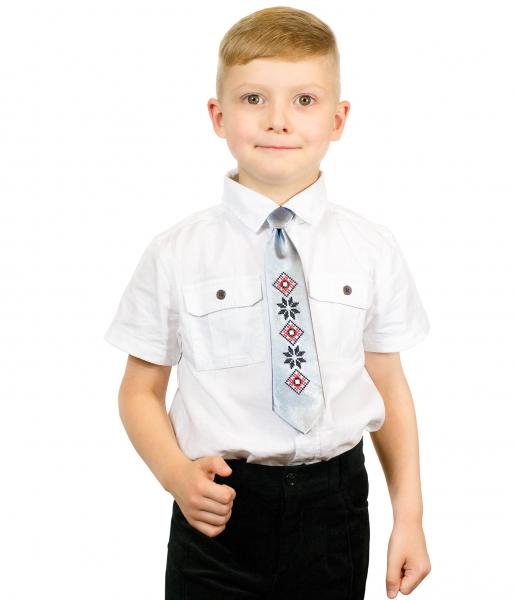 Детский галстук с вышивкой Левко