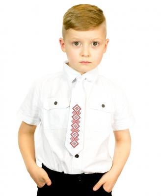 Детский галстук с вышивкой Верь