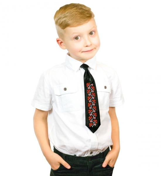 Детский галстук с вышивкой Малик