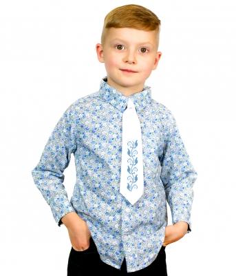 Детский галстук с вышивкой Добрик