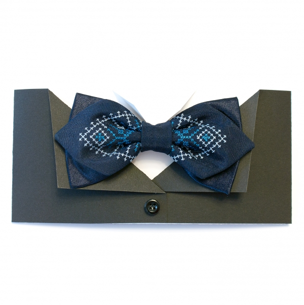 Фигурный галстук-бабочка Гора