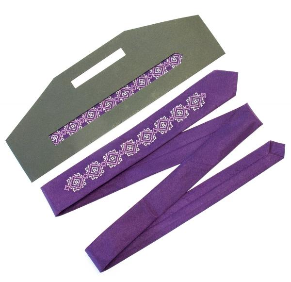 Тонкий вышитый галстук Седун