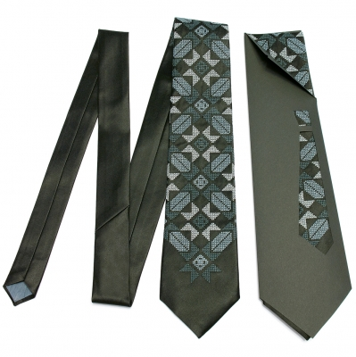 Вышитый галстук Марун