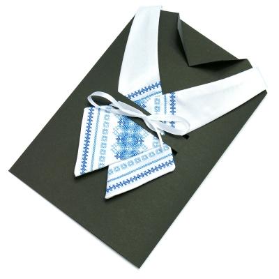 Кросс-галстук с вышивкой Бела