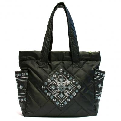 Дутая сумка с вышивкой №4