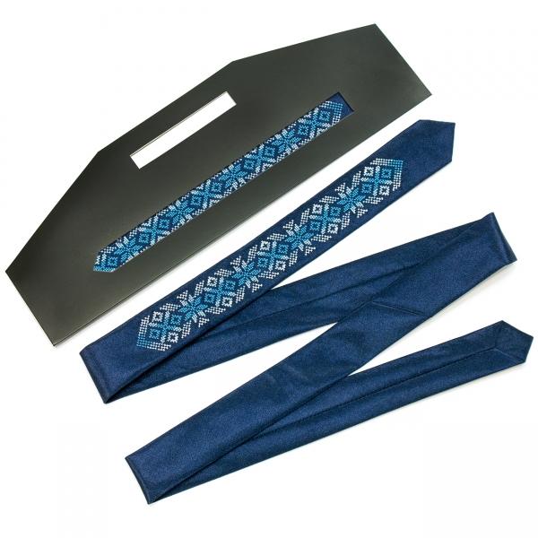 Узкий вышитый галстук Годун