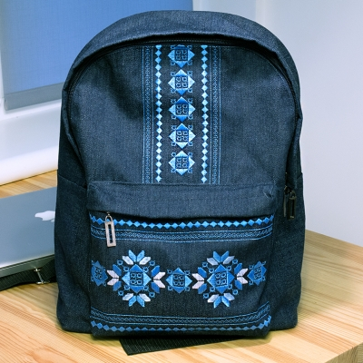 Джинсовый рюкзак №605