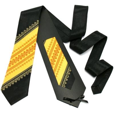 Оригинальный вышитый галстук №646