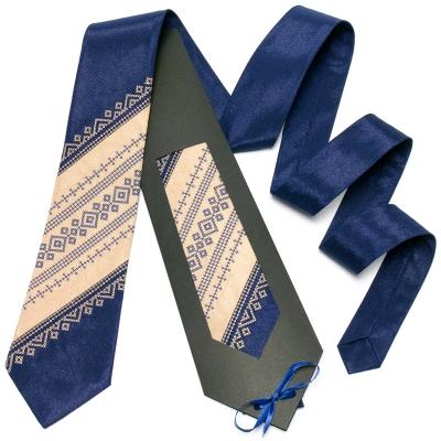Оригинальный вышитый галстук №647