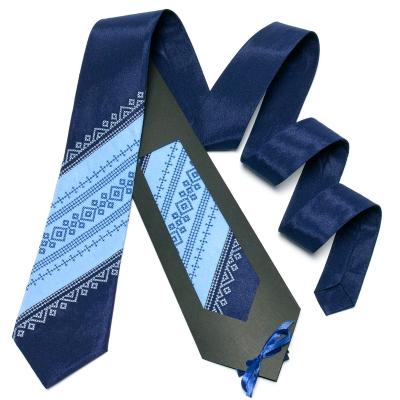 Оригинальный вышитый галстук №648