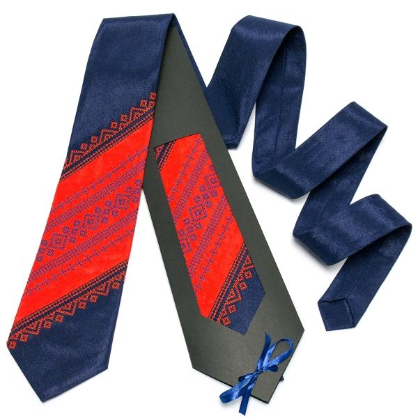 Оригинальный вышитый галстук №649