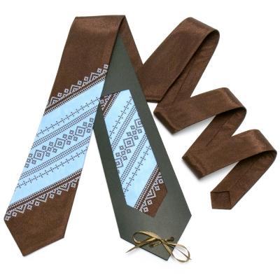 Оригинальный вышитый галстук №650