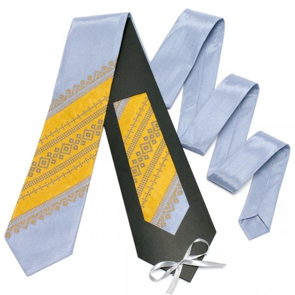 Оригинальный вышитый галстук №651