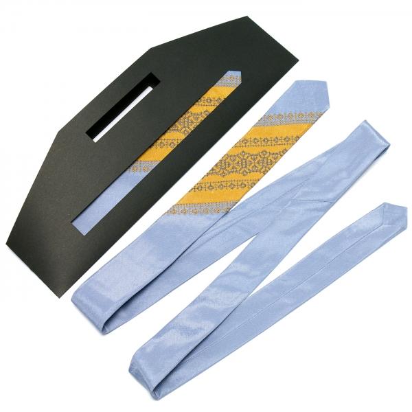 Тонкий оригинальный вышитый галстук №658