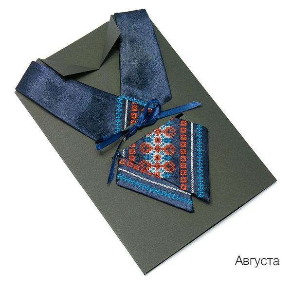 Кросс-галстук с вышивкой Августа