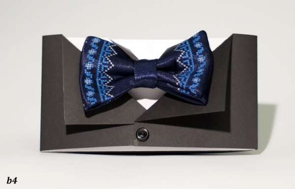 Вышитый галстук бабочка Неборад