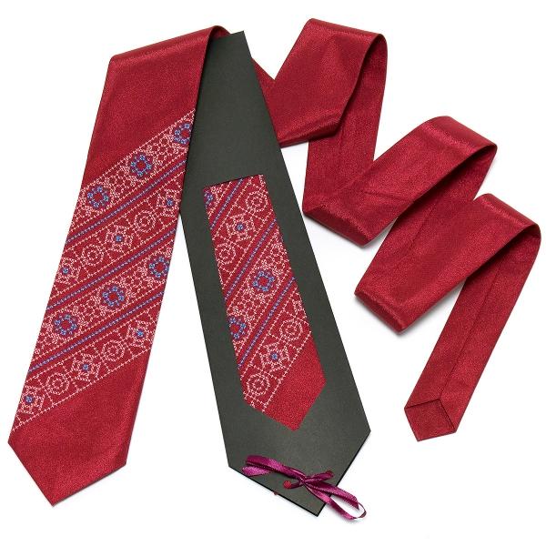 Бордовый галстук №615
