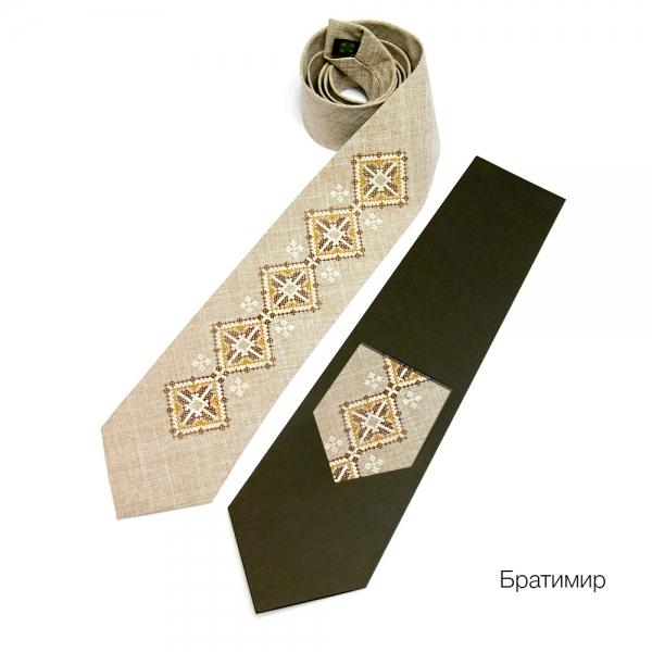 Галстук с вышивкой Братимир