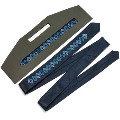 Тонкий вышитый галстук Володыслав