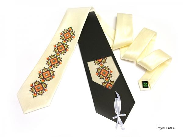 Галстук с вышивкой Буковина