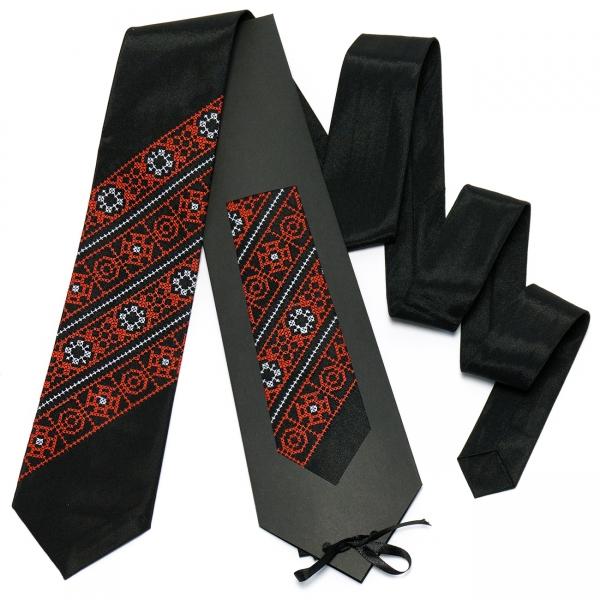 Черно-красный галстук №613