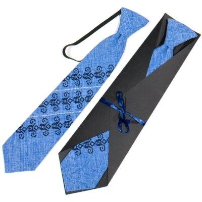 Детский вышитый галстук №774