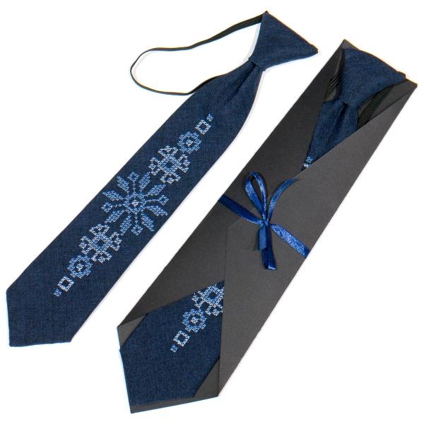 Детский вышитый галстук №775