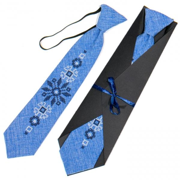 Детский вышитый галстук №778