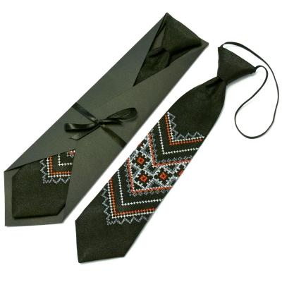 Детский вышитый галстук №591