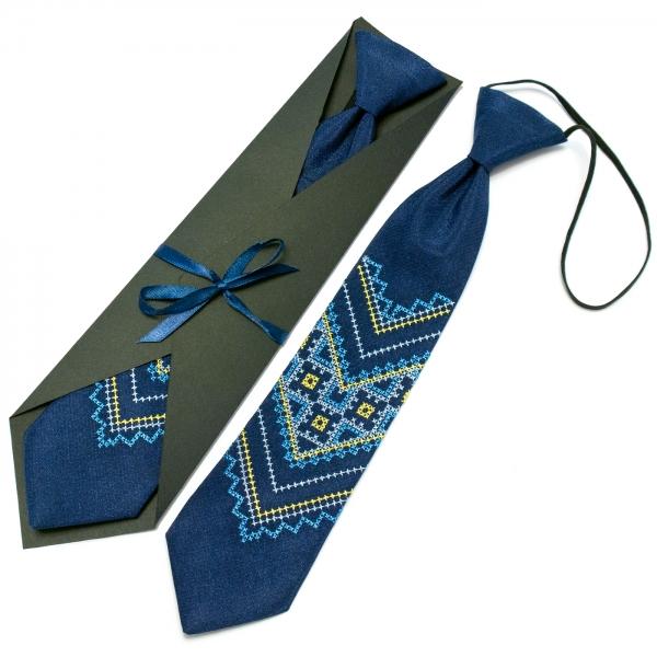 Детский вышитый галстук №592