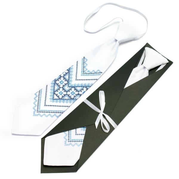 Детский вышитый галстук №593