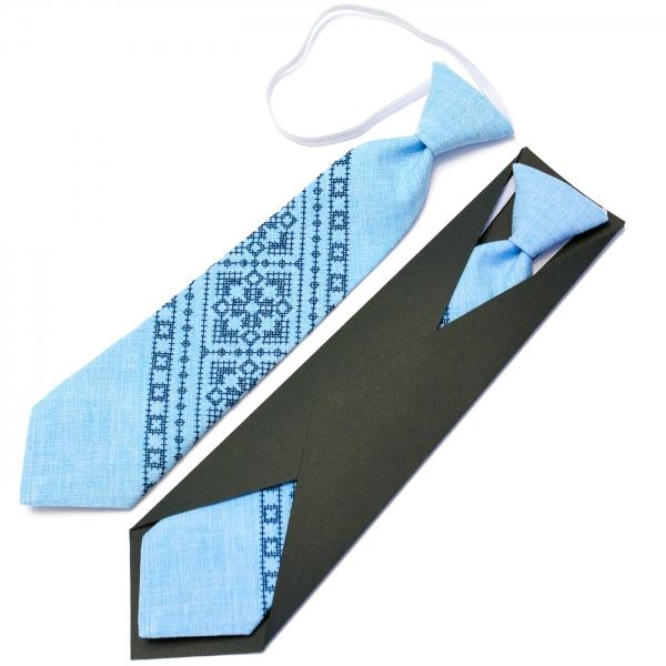 Детский вышитый галстук №596