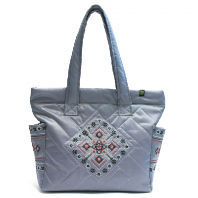 Дутая сумка с вышивкой №3