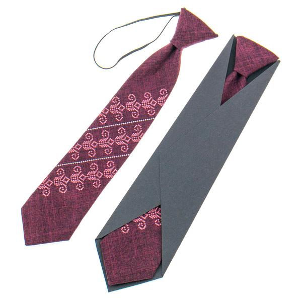 Детский вышитый галстук №924