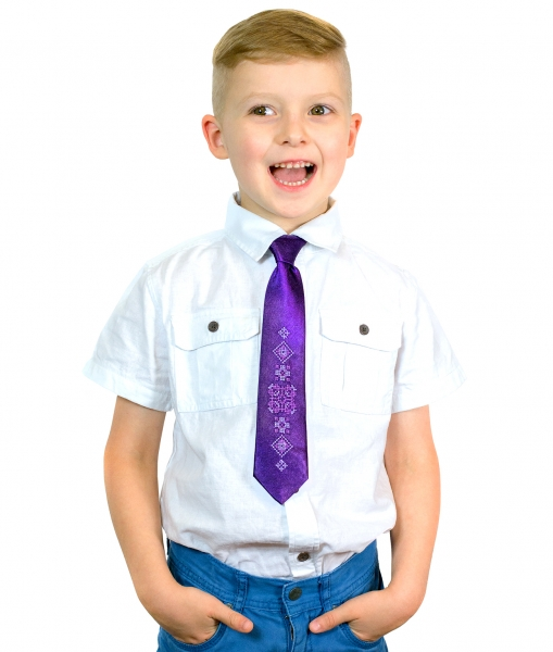 Детский вышитый галстук Фагот