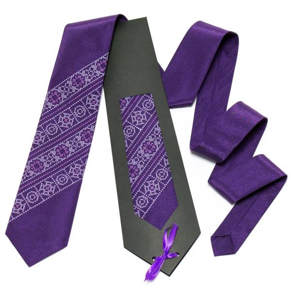 Фиолетовый галстук №614