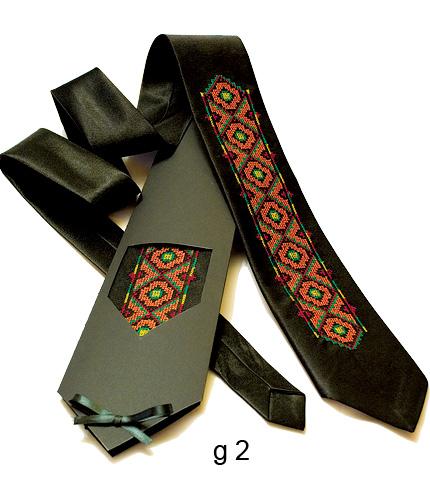 Галстук с вышивкой Буревіст