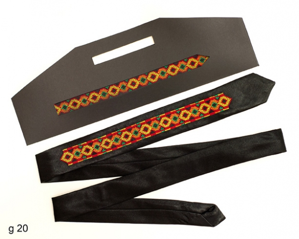 Узкий галстук с вышивкой Красун